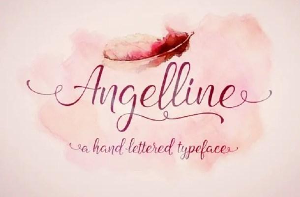 Angelline Script Font Free