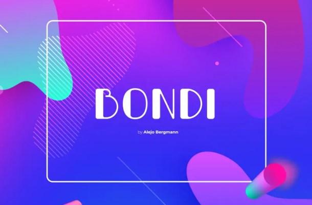 Bondi Typeface Free