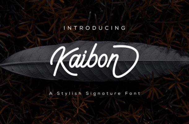Kaibon Signature Font Free