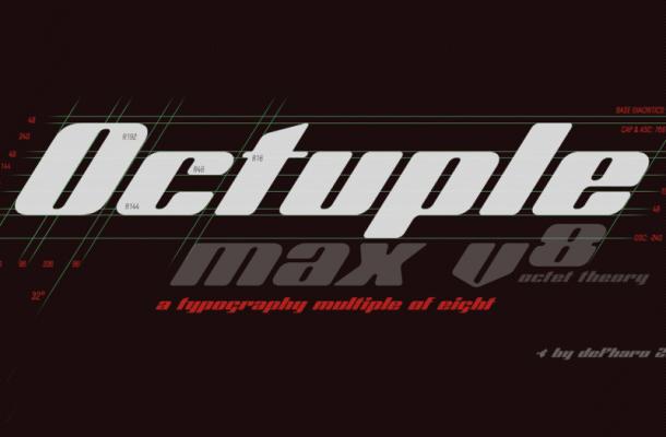 Octuple Max Font Free