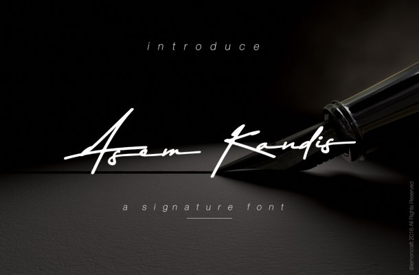 Asem Kandis Signature Font Free