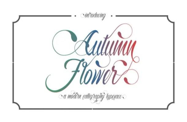 Autumn Flower Script Font Free