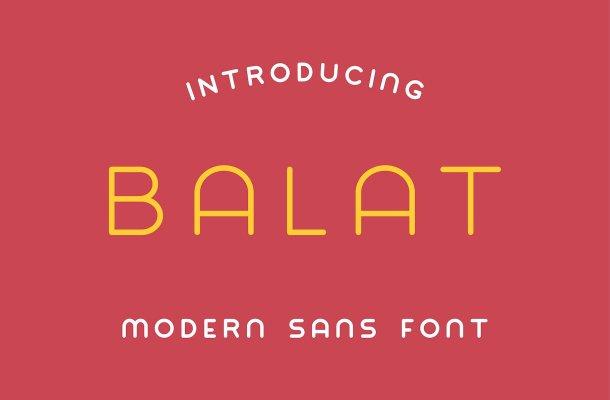 Balat Sans Font Free