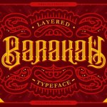 Barakah Layered Typeface Free