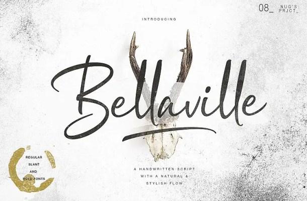 Bellaville Script Font Free