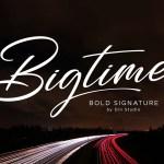 Bigtime Script Font Free