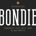 Bondie Slab Serif Font Free
