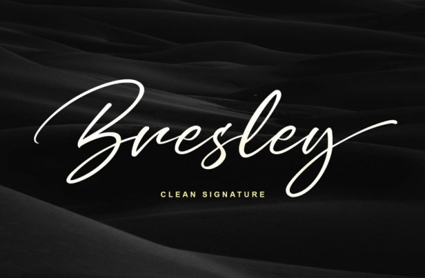 Bresley Clean Signature Font Free