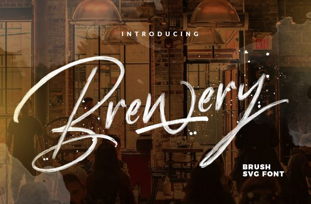 Brewery Brush Font Free