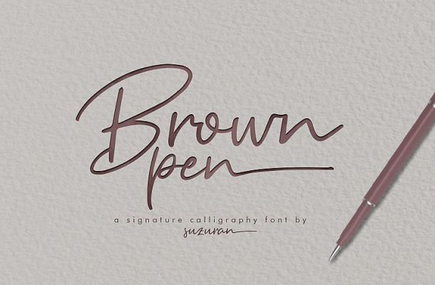 Brown Pen Signature Font Free