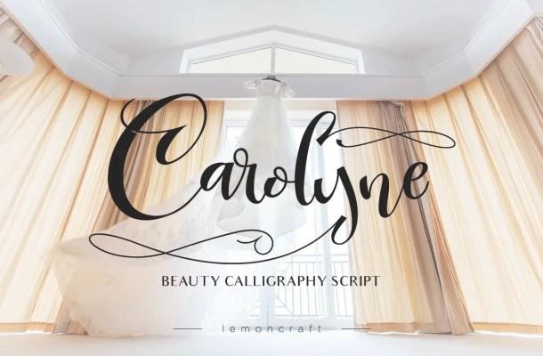 Carolyne Script Font Free
