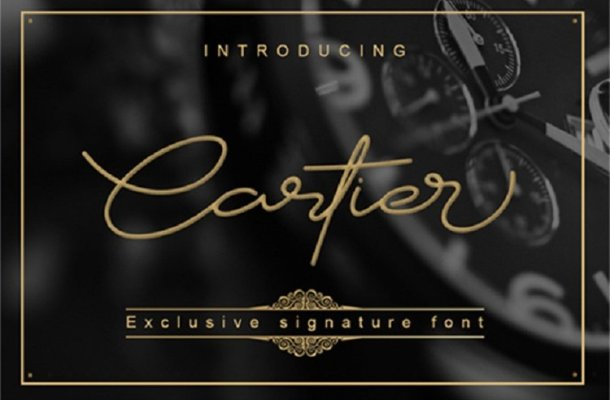 Cartier Script Font Free