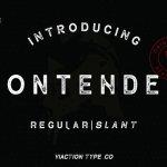 Contender Vintage Font Free