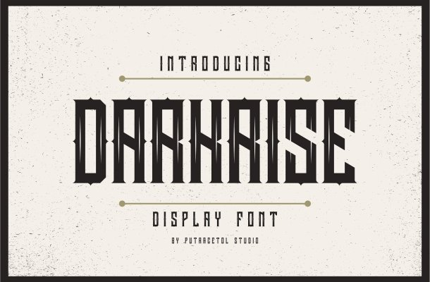 Darkrise Typeface Free