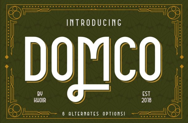 DOMCO Font Family Free