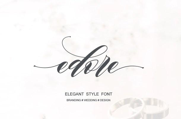 Edore Script Font Free