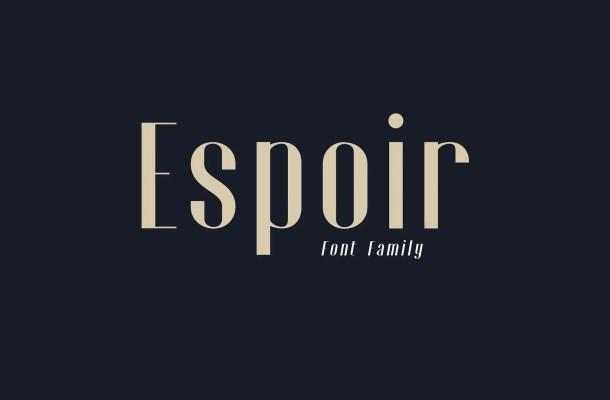 Espoir Font Family Free