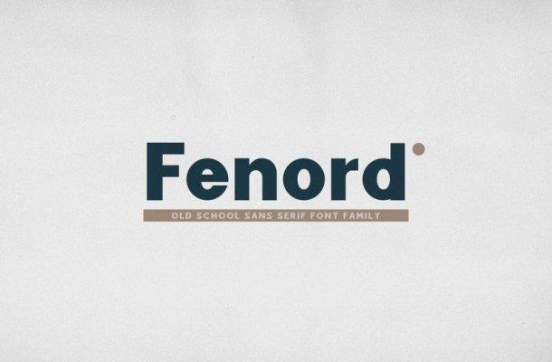 Fenord Sans Serif Font Free
