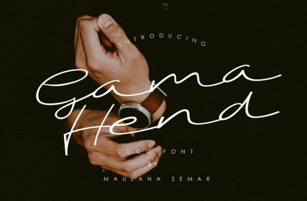 Gama Hend Script Font Free