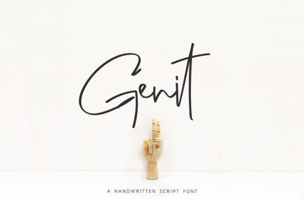 Genit Classy Handwritten Font