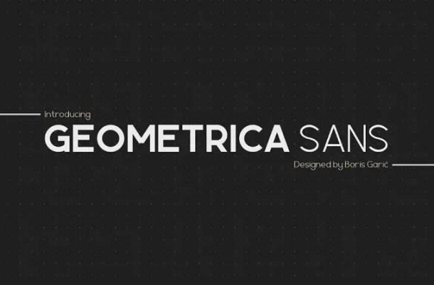 Geometrica Sans Font Family Free