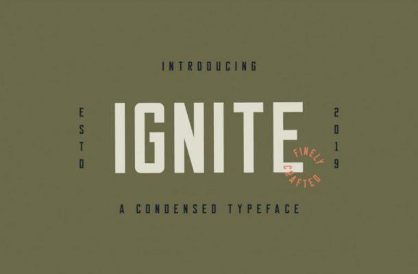Ignite Sans Serif Font Free