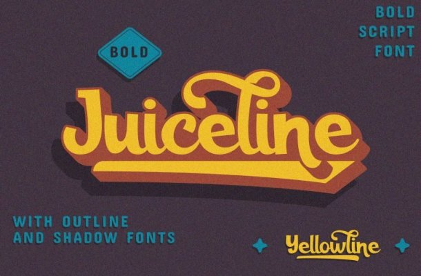 Juiceline Bold Script Font