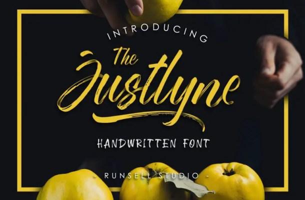 Justlyne Brush Font Free