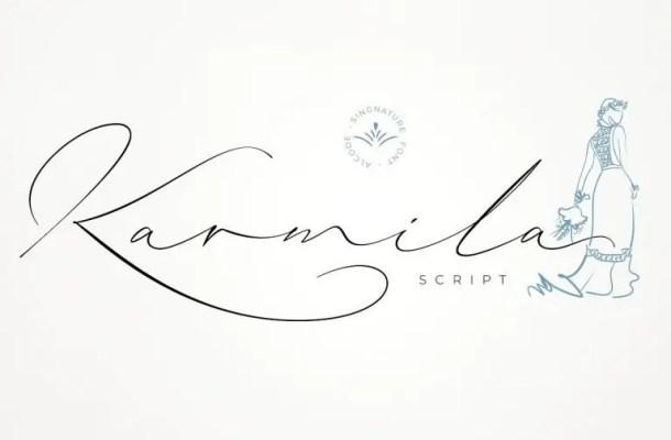 Karmila Signature Font Free