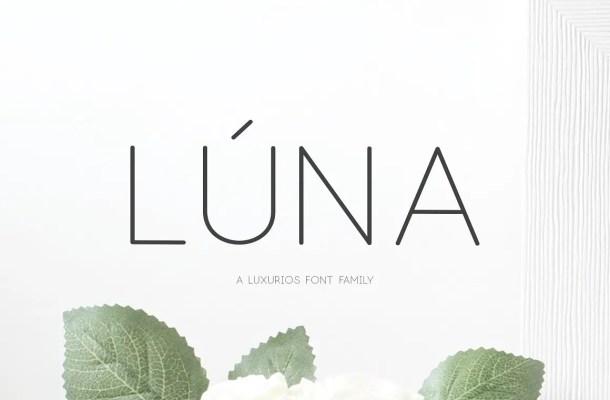 Lúna Font Family Free