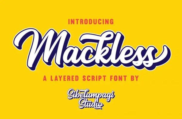 Mackless Script Font Free