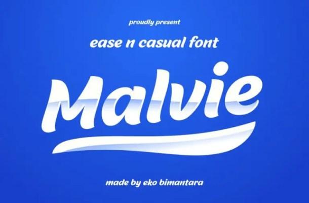 Malvie Bold Script Font Free
