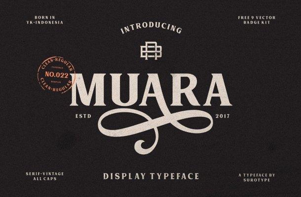 MUARA Typeface Free