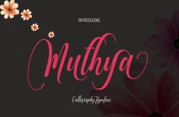 Muthya Script Font Free