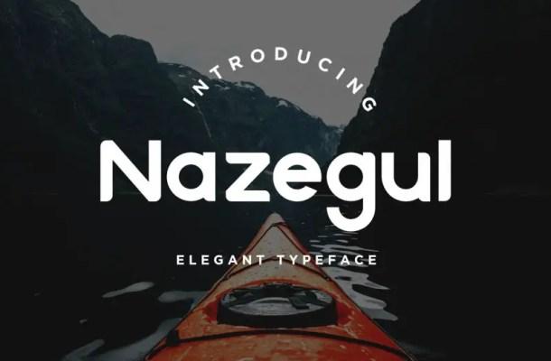 Nazegul Typeface Free