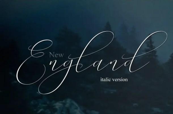New England Script Font Free