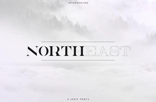 NorthEast Serif Font Free