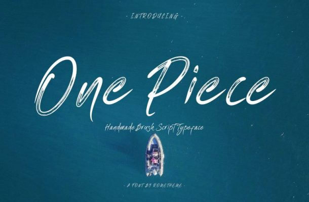One Piece Brush Font Free