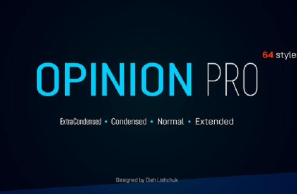 Opinion Pro Font Family Free