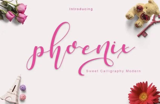 Phoenix Script Font Free