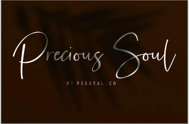 Precious Soul Script Font Free