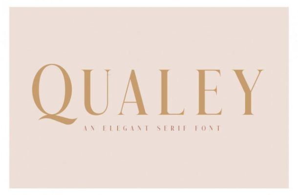Qualey Elegant Serif Font Free