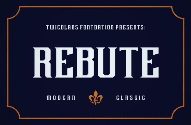Rebute Typeface Free