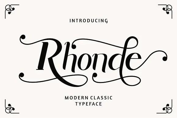 Rhonde Modern Typeface Free