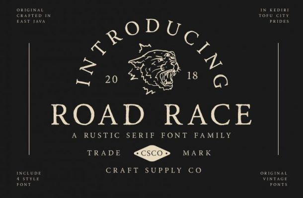 Road Race Typeface Free