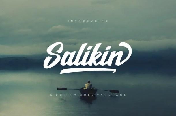 Salikin Bold Script Font Free
