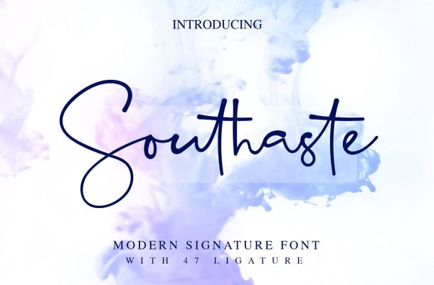 Southaste Signature Font Free