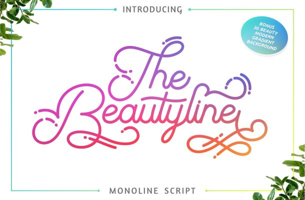 The Beautyline Script Font Free