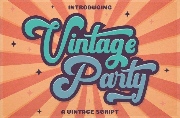 Vintage Party Bold Script Font Free
