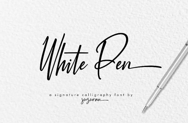 White Pen Script Font Free